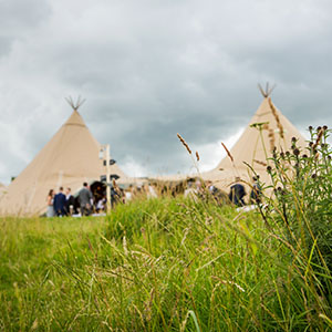 Papa Kata teepee wedding in Burnsall