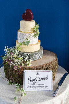 cheese wedding cake allerton castle