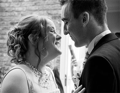 reportage wedding photography of bride and groom in york